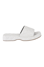 LILO CREASED LEATHER SLIDERS
