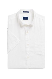 Regular Fit Kortermet Linskjorte Skjorte