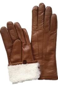 Handskehandske Varme handsker Håndskindhandsker Lamskindshandsker Tan Brun