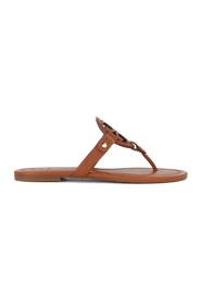 Sandal with perforated logo