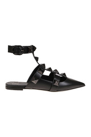 Roman Stud Ballet Flat Shoes