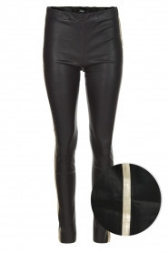 Mariah stretch leather pants