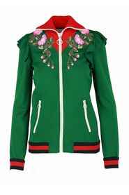 Embroidered Jersey Jacket