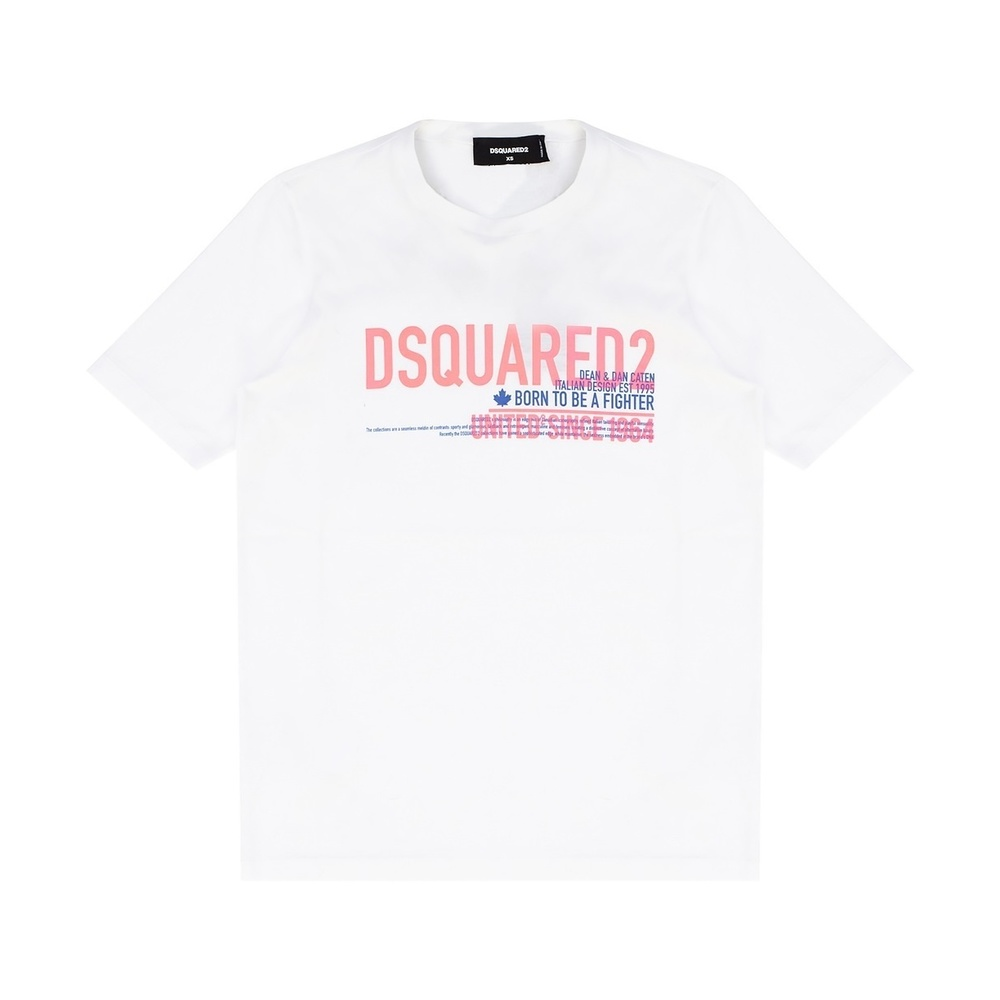 WHITE Polo shirt with logo  Dsquared2  Piqueskjorter - Herreklær er billig