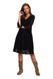 Sukienka szyfonowa gładka