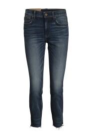 Faded Effect High-waist Jeans