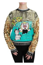 Year of the Pig Sequined Sweater