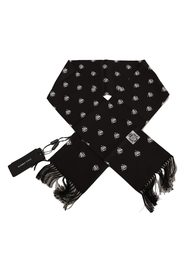 Silk Crown Fringes Mens Wrap Scarf