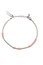 ANNA ANKLET - pink silver