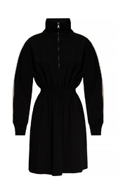 Dress with mock neck