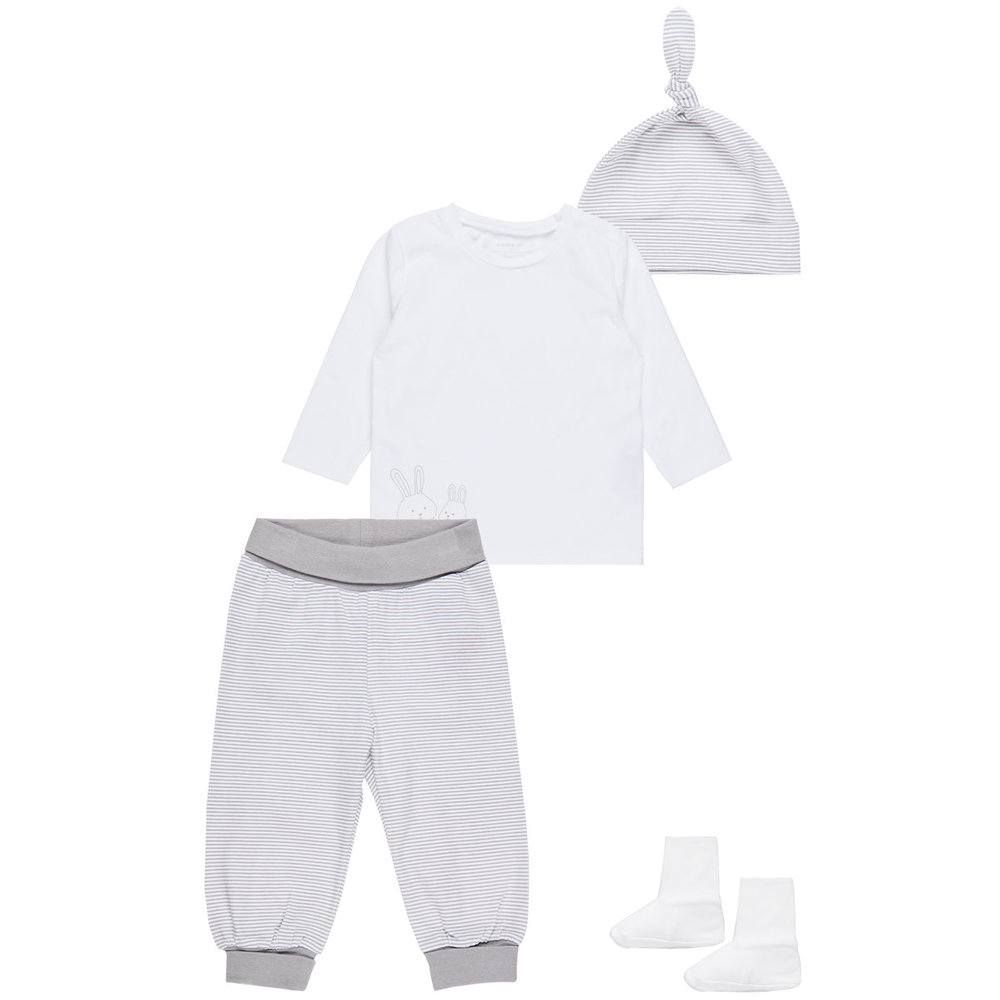 Gift set neutral longsleeved top + trousers