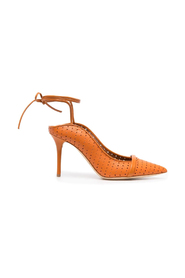 POINTED SANDAL W/LACES ON ANKLE