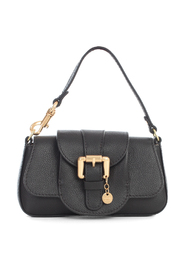MINI SHOULDER BAGS W/FLAP AND BUCKLE