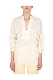 LACE TUNIC WITH BALOON SLEEVES