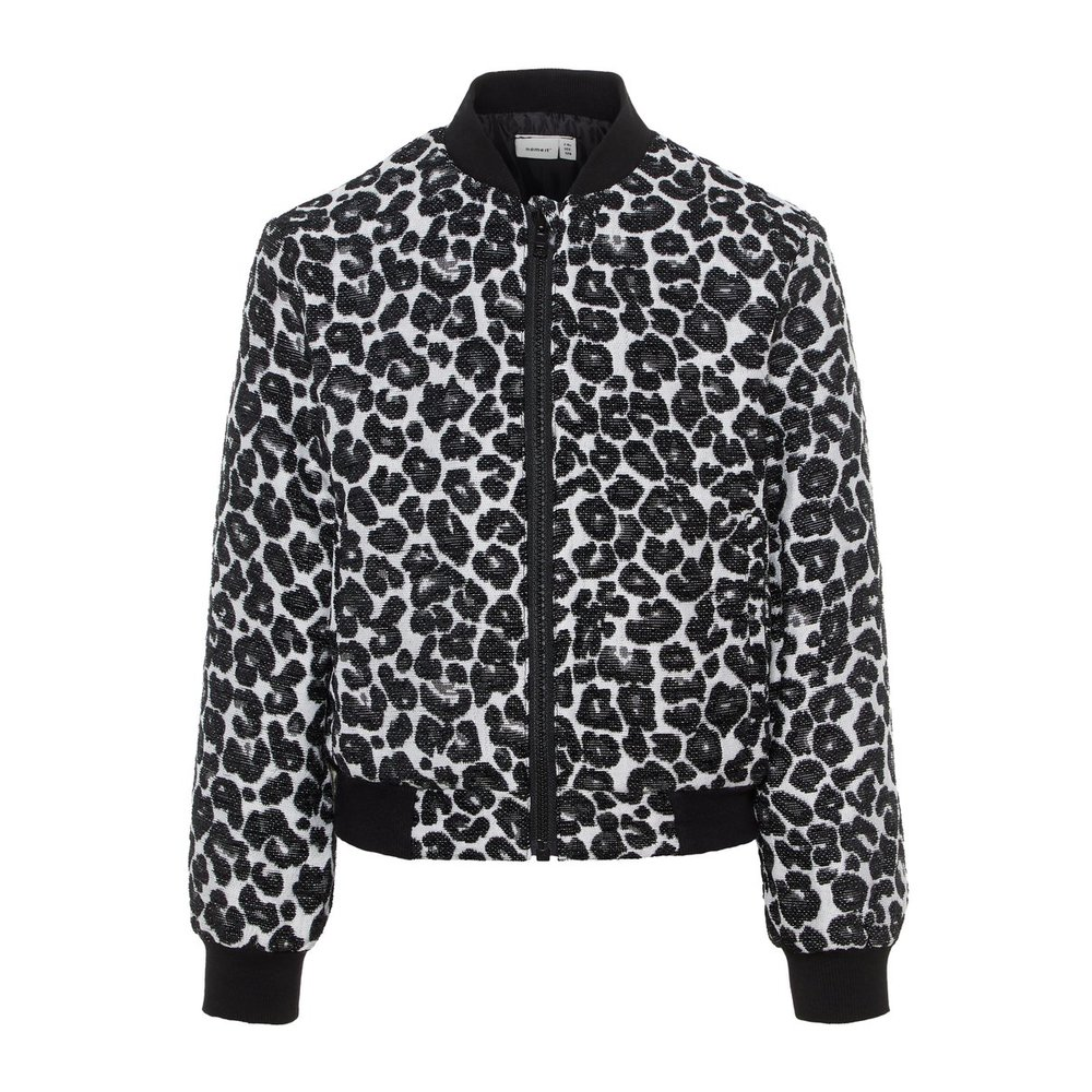 bomber jacket leopard patterned