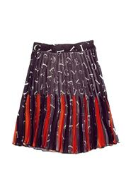 SKIRT WITH FOLDS AND PRINTS