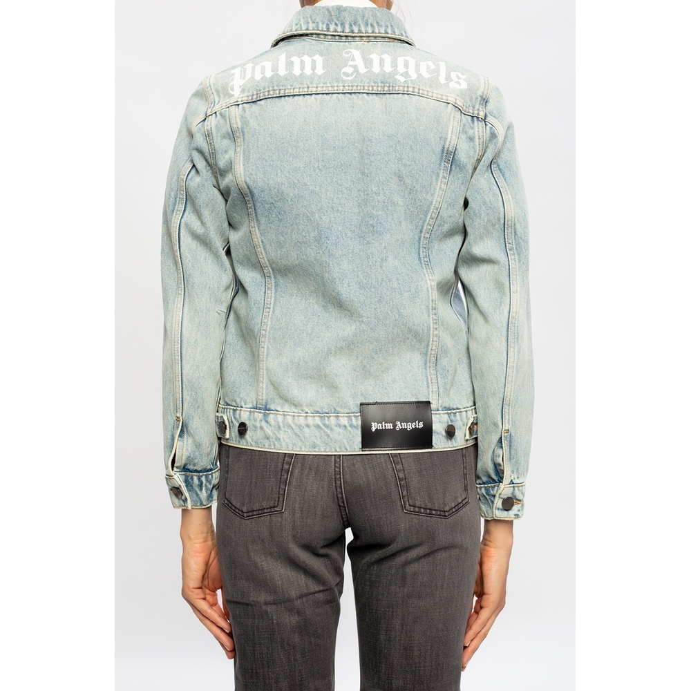 Blue Denim jacket with logo | Palm Angels | Spijkerjassen | Heren winter kleren