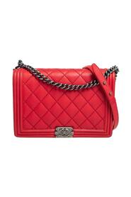 Pre-owned Quilted Leather Large Boy Bag