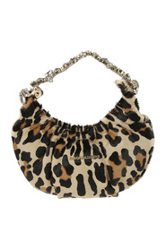 Leopard-printed handbag