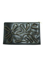 Vegetarian Cavendish Clutch Embellished with Zippers