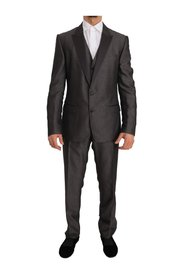 Silk Wool MARTINI Slim Fit 3 Piece Suit