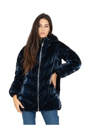 Velvet effect down jacket