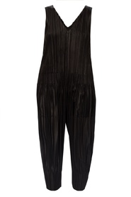 Pleated slip jumpsuit