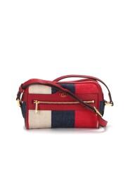 Brugt Mini Sylvie Stripe Ophidia crossbody taske i rødt