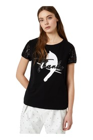 LIU JO CA0103 J5972 T SHIRT AND TANK Women Nero