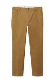 Slim fit serge chino trousers