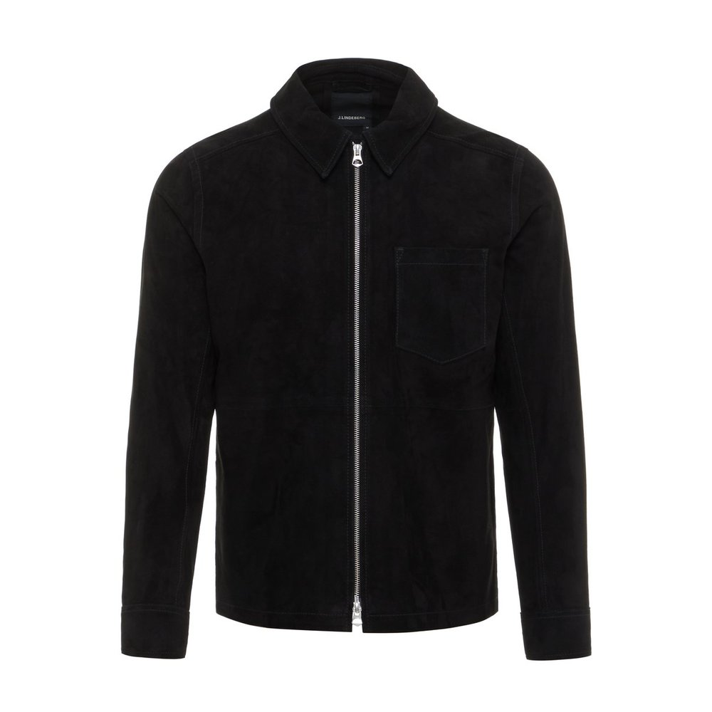 Leather jacket Jonah Zip Flat suede