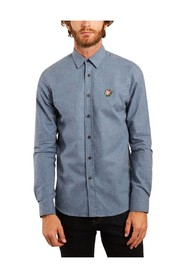 Rose cotton flannel embroidered shirt