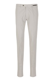 Cotton and silk graven fit trousers