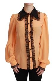 Blusa de encaje de lentejuelas de seda