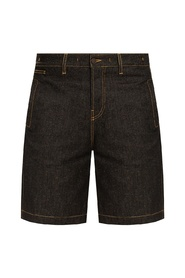 Nimes denim shorts with logo