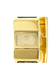 Pre-owned Hermes Loque Quartz Gold Plated