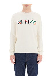 sweater with multicolour logo