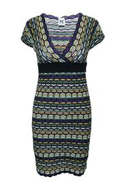 Print Short Sleeves Dress -Pre Owned Condition Very Good
