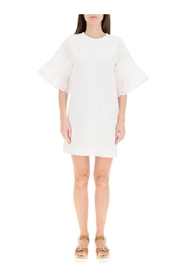 T-shirt dress with butterfly sleeves