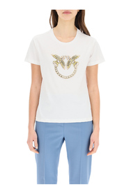 quentin t-shirt love birds embroidery