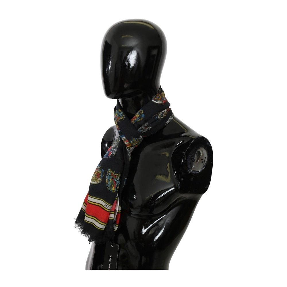 Black Medal Neck Wrap Herens Shawl Modal  Scarf | Dolce  Gabbana | Sjaals | Heren accessoires