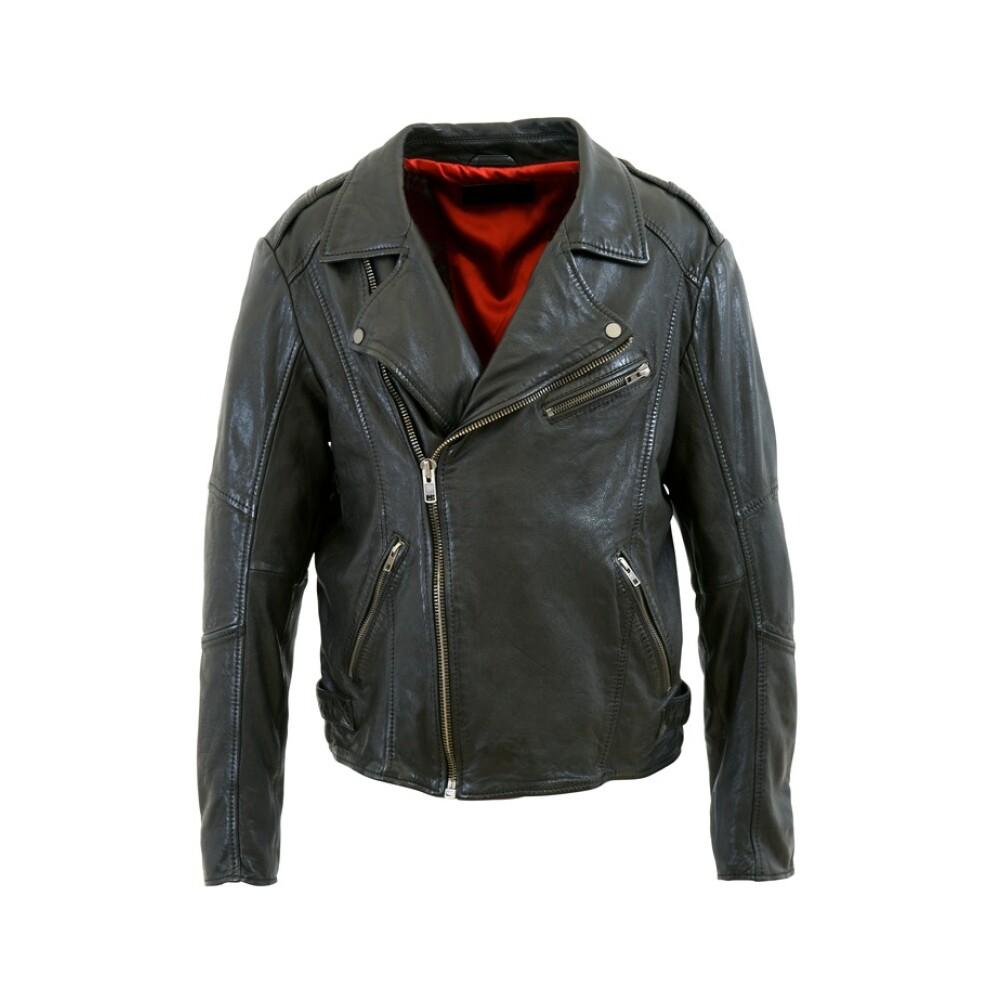 Black Leater Jacket Biker  Conflict  Læderjakker