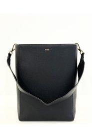 LEATHER BUCKET BAG WITH LEATHER STRAP