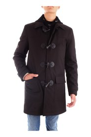 CORNELIANI 842AG4-9820147 Overcoat Men BLACK