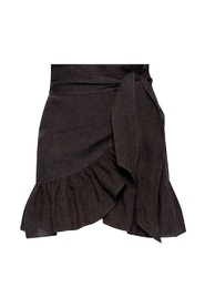 Skirt with tie fastening