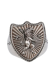 RING WITH LION SHIELD