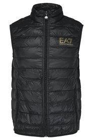 Quilted vest with logo