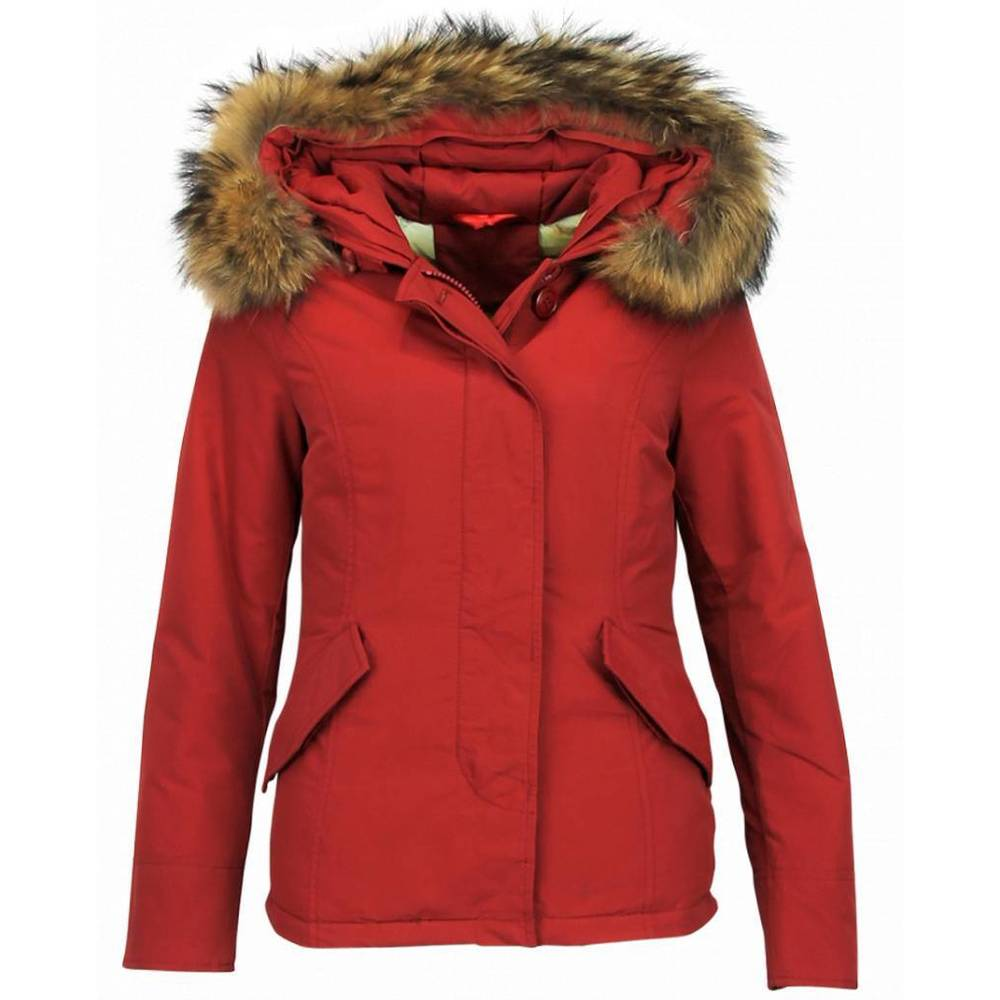 Kort vinterjacka Ladies - Quilted Jacka - Red Winterjacket
