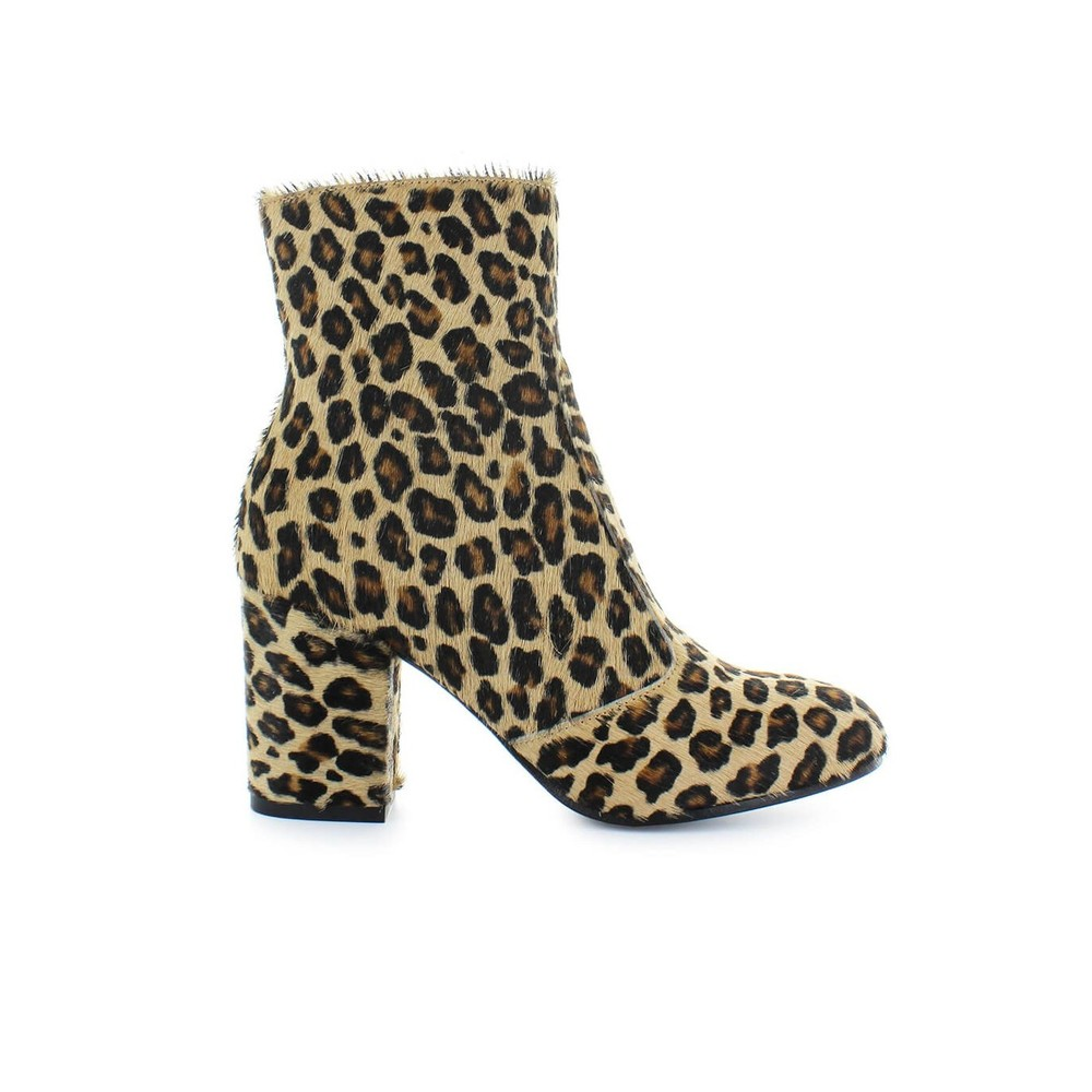 LEMARÉ ANIMALIER PONY ANKLE BOOTS