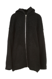 HOODED AND OVERSIZED ZIP FRONT PETER JACKET